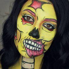 Marianne Gagnon (@mariannegmaquillage) • Cartoon / pop art zombie makeup for halloween