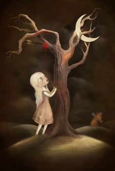 The Girl, The Moon, and the Killing Tree by Lisa Falzon