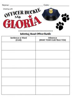 Worksheets Officer Buckle And Gloria Worksheets 1000 images about officer buckle and gloria on pinterest gloria