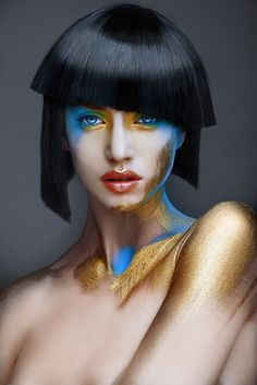 Fashion and editorial Hair and Makeup Photoshoot Inspiration, Makeup Inspiration, Airbrush Make Up, Hd Make Up, Extreme Makeup, Avant Garde Hair, Foto Fashion, Corte Y Color, Beauty Shoot