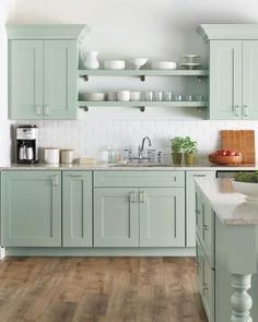 Select Your Kitchen Style - - Selecting the appropriate kitchen can be challenging. To help you achieve your perfect look, we've put together a few of our favorites from the Martha Stewart Living collection at The Home Depot. Kitchen Cabinets Home Depot, Green Kitchen Cabinets, Diy Kitchen, Kitchen Decor, Kitchen Ideas, Kitchen Counters, Kitchen Themes, Kitchen Flooring, Home Depot Kitchen Remodel