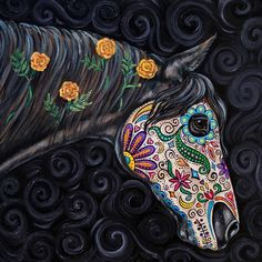 I love this Day of the Dead horse!!!! I want to buy it!!!!