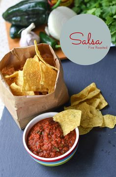 Homemade Fire Roasted Salsa, easy salsa recipe, how to make salsa with canned tomatos, homemade salsa: