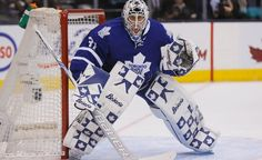 The Toronto Maple Leafs have shipped out Jonathan Bernier, and now they are on the hunt for an experienced goalie to backup Frederik Andersen. Rangers Hockey, Hockey Goalie, Field Hockey, Hockey Players, Ice Hockey, Maple Leafs Hockey, Toronto Photography, Hockey World, Hockey