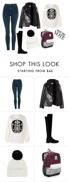 """rock the vote"" by kadicz on Polyvore featuring moda, Topshop, Stuart Weitzman, Jaeger i Victoria's Secret"