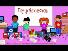 Tidy up the classroom song