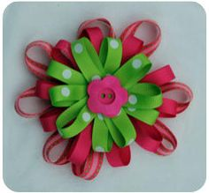 Learn How to Make Flower Hair Bows! Flower Hair Bows, Girl Hair Bows, How To Make Hair, How To Make Bows, Little Girl Hairstyles, Pretty Hairstyles, Homemade Crafts, Diy Crafts, Ribbon Crafts