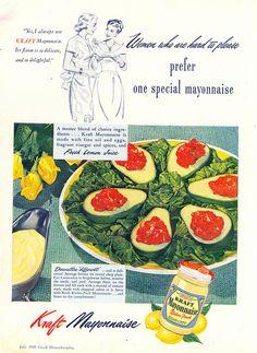 Tomato aspic in avocado slices. 1948-(via File Photo)- on Flickr.
