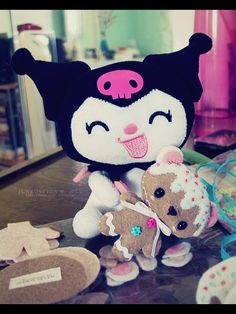 Kuromi by junkoseven, via Flickr  even more cuteness. sigh <3