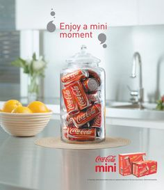 Coca Cola has even made these mini cans, which I currently have sitting in my fridge. They recognize drinking too much Coca Cola may not be healthy so they have created this smaller portion canned for those of us who can't get rid of this guilty pleasure. They have become very popular recently.