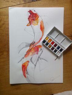 #drawing #fish #fisch #art #kunst #zeichnen #koij