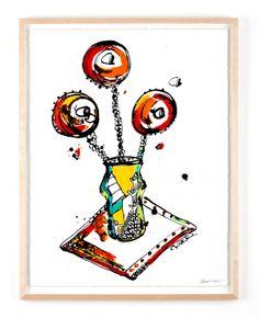 UTAN TITEL Bläck, akvarell och pastell på papper Cajsa Fredlund, cajfre@gmail.com
