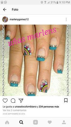 Neon Nail Art, Neon Nails, Cute Nails, Pretty Nails, Manicure Y Pedicure, Healthy Nails, Camellia, Girly Things, Nail Designs