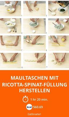 Maultaschen mit Ricotta-Spinat-Füllung herstellen