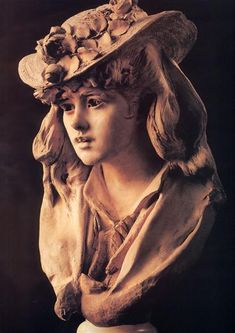 Young Girl with Roses on Her Hat - Rodin Auguste