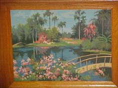 2 Vintage Paint By Number Painting Pair Mid Century by AuntLenoras