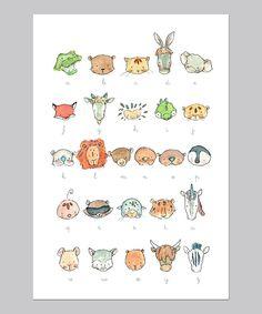 illustrated alphabet, very sweet
