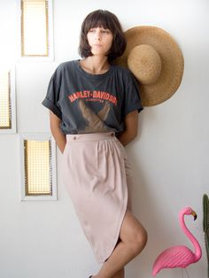 Wrap pencil skirt in Blush by annakshop. Explore more products on http://annakshop.etsy.com