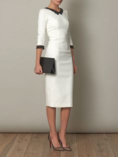 L'WREN SCOTT Headmistress fitted dress
