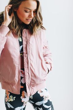 9d057a8ed7 Can t Help Myself Mauve Bomber Jacket
