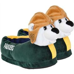 Green Bay Packers Mascot | Team Beans Green Bay Packers Youth Mascot Slippers