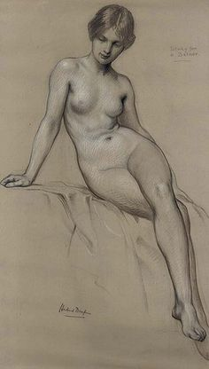 Herbert James Draper (1864-1920), Study for 'The Kelpie'