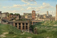 Christoffer Wilhelm Eckersberg View of the Cloaca Maxima, Rome 1814 Painting