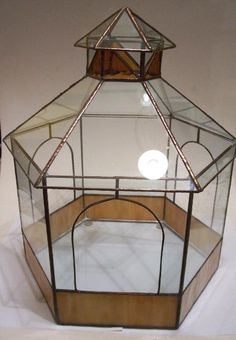 stained glass pagoda terrarium