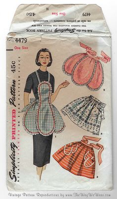 1950's Apron Sewing Pattern - 4470 Simplicity Printed Pattern by TheWayWeWear, via Flickr