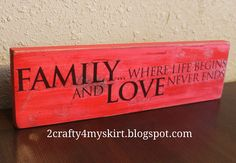2 Crafty 4 My Skirt: Word Decor using scrap wood and Dollar Store stickers - great gift idea