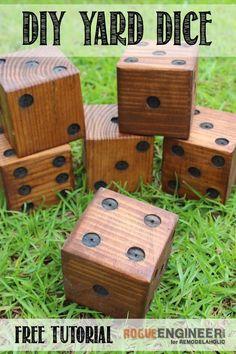DIY Yard Dice Plans | Free & Easy Plans http://rogueengineer.com/ #DIYYard Dice#Baby&ChildDIYPlan