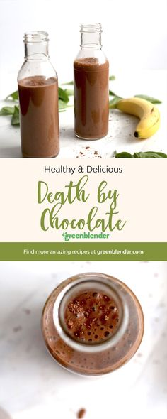 A healthy smoothie that will curb any chocolate cravings!