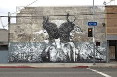 Dtoar/Christina Angelina and Fin DAC (2013) - 4th St, Los Angeles, California (USA)
