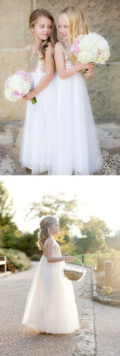 champagne and white tulle flower girl dress, modest flower girl dress Prom Dresses 2018, Formal Evening Dresses, Wedding Dresses, Gold Dress, Dress P, Lace Dress, Girly Pics, Girly Pictures, Beach Flower Girls
