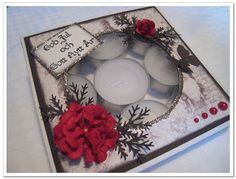 M.E Card Design: A candle box tutorial / Ljusask tutorial