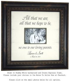 Personalized Picture Frame Wedding Gift ALL by PhotoFrameOriginals