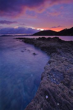 Sunrise from Long Beach Russell in the Bay of Islands, Northland, New Zealand