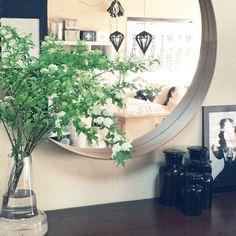 yoshiさんの、コデマリ,枝物,STOCKHOLMミラー,IKEA,リビング,のお部屋写真