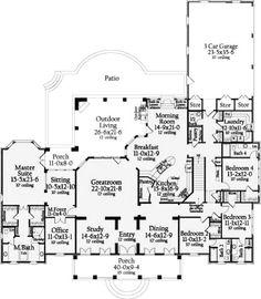 plan w12516rs southwest corner lot house plans home designs home pinterest house floor plans floor plans and floors