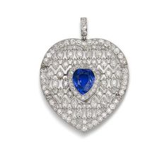 A sapphire and diamond pendant, by Cartier, circa 1910