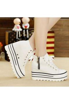 Giày Sneaker Đế Bánh Mì BM049T F3979 BM049T (Trắng)