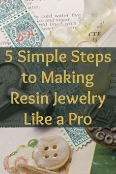 This is the ultimate guide on how to make resin jewelry in 5 simple steps! #jewelrymaking #resin #diyjewelry