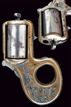 """James Reid 32 cal. """"My Friend"""" 7 shot Knuckle-Duster Revolver.    provenance: USA dating:  third quarter of the 19th Century"""