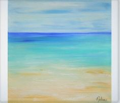 Oil painting seascape Abstract beach art Seascape painting #OilPaintingForKids