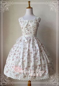 Magic tea party floral JSK blue/ white