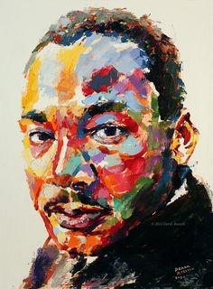 Dr. Martin Luther King, Jr. Original Portrait of Innovation Oil Painting   © Derek Russell