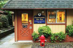 -Repinned- Cute exterior of grooming shop.