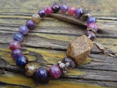 Muli Colored Agate BraceletGemstone BraceletBoho by FeminineGenius