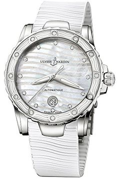 Ulysse Nardin Marine Lady Diver White Rubber Strap Diamond Automatic Swiss Watch 8153180E310 *** Want additional info? Click on the image. (Note:Amazon affiliate link) #WomenLuxuryWatches