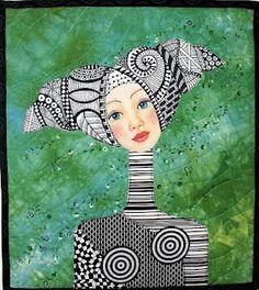 Mixed media art quilt